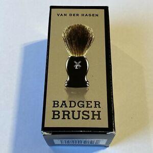 Van Der Hagen Badger Shave Brush 100% Badger Hair NEW IN BOX