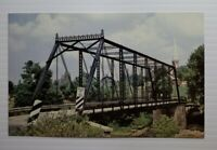 Vintage Postcard Old Black Bridge Frankenmuth Michigan Dehmel Road 1986 unposted