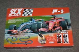 SCX Slot Cars FORMULA 1 SUPERSPEEDWAY Race Track Set Racing F1 1:43 Scale