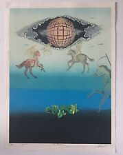 Signed & Numbered The Promise Horses Surrealist Serigraph, Art