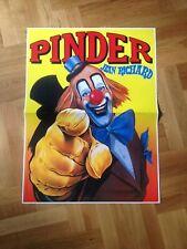affiche cirque circus zirkus circo Pinder murale clown