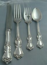 Reed & Barton Marlborough Sterling Silver Four ( 4 ) Piece DINNER SIZE Setting
