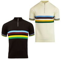 NEW MADCAP MENS RETRO MOD 60s 70s FUNNEL NECK RAINBOW CYCLING TOP Velo MC334