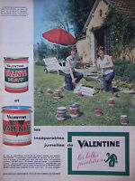 PUBLICITÉ DE PRESSE 1961 LES JUMELLES DE VALENTINE VALNYL VALENITE - ADVERTISING