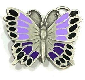 Women's Purple Butterfly Siskiyou Enameled Belt Buckle Motorcycle