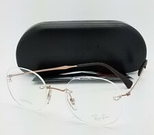 NEW Rayban RX eyeglass Frame Bronze RX8747 1131 48mm 8747 AUTHENTIC Round No Rim
