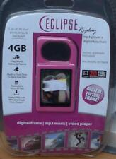 Eclipse Replay 4gb Digital Picture Frame Keychain / MP3 Player PINK COLOR -NEW