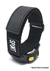 Bandini Nylon Sports Watch Band Strap - Hook Loop - Fastening 12mm - 26mm