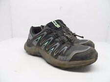 Salomon Women's XA Comp 7 WP Trail Hiking Shoe Grey Denim/Stone Blue Size 7.5M