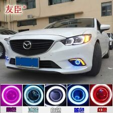 LED DRL Daytime Fog Lights Turn signal +angel eye kit For Mazda 6 Atenza 13-2015