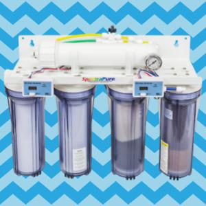 SpectraPure MaxCap 2:1 Manual Flush 90 GPD RO/DI System