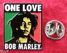 Bob Marley One Love Lapel Pin Badge Jamaican Reggae Legend Souvenir