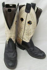 Olathe Boot Company Men's Two-Tone Genuine Leather Western Boots Size 10.5 D