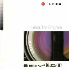 1998 LEICA CAMERA PROGRAM CATALOG BROCHURE -S1-M6-R8-R6.2-PRADOVIT-TRINOVID