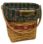 Longaberger Glad Tidings Christmas Basket 1998, Liner, Protector