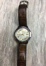 Vintage Timex Indiglo Quartz WR 30M Watch Mens Analog Adjustable Leather Band