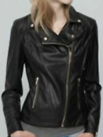 pull and bear classic faux leather bikers jacket size small uk 8 bnwt