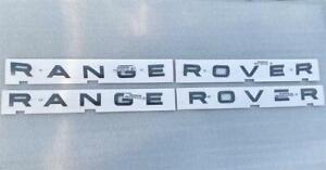 RANGE ROVER EVOQUE SPORT VELAR VOGUE BONNET BOOT BADGE DECAL LETTERS SHADOW GREY
