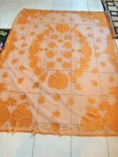 2 Orange Lace Fall Harvest Thanksgiving Sheer Curtains 5'X6' Panels Door Window