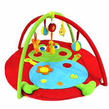 Baby Playmat play mat frog design sensory padded mat soft removable toys & music