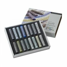 Daler Rowney Soft Chalk Pastel Set - 16 Cool Shades Selection