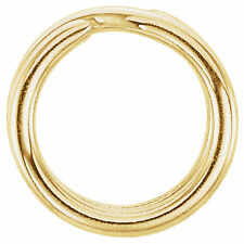 5mm 14k Yellow Gold Split Ring Clasp Keychain Style Charm Connector 18ga US Made