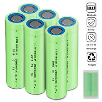 2600mAh 3.7V 18650 INR Batteries High Drain Rechargeable Li-ion Battery W/ Case