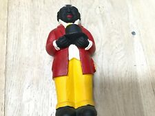 Vintage Old Black Americana Cast Iron Uncle Moses Bank Door Stop