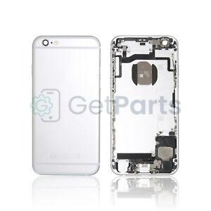 Backcover Frame für iPhone 6s Silber Weiß Rahmen + ORIGINALTEILE VORMONTIERT