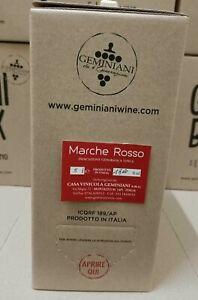 Vino Rosso Marche IGT 2019 Bag in Box 5 Litri Geminiani - GemiBox-