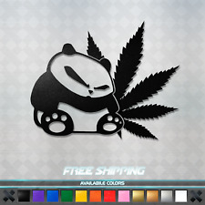 JDM Weed Panda Vinyl Decal Sticker - Car Window Racing Drifting Funny CBD 420