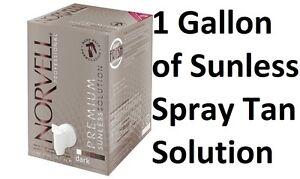 Norvell Sprühbräune Airbrush ohne Sonne Original Dunkel Bräunung Lösung 3785ml