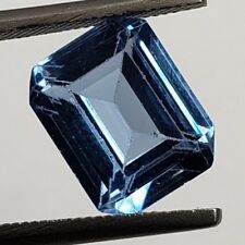 GIA Certified Emerald Aquamarine Sapphire Light Blue Spinel 3.40 carats