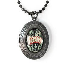 Freaks Oddity Side Show Circus Freak Show Gunmetal Keepsake Locket Necklace