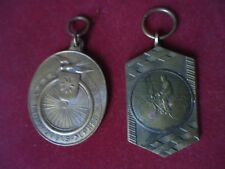 Vintage lot of 2 bronze sports medals cycling  Belgium