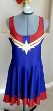 Miss Universe Captain Marvel Skater Graphic Dress Large L Cosplay Comic Costume