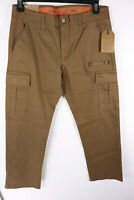 New Weatherproof Cargo Pants Stretch Brown 34 x 30 Mens