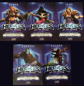 Heroes of the Storm Bundle / 5 Heroes / Region Free / Hots Codes /