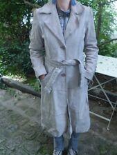 Manteau croûte de cuir sable MORGAN