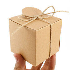 100 Kraft Paper Box Wedding Decoration Christmas Candy Bomboniere Gift Tag Lable