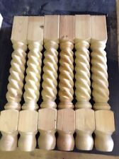 """6 of 28"""" Barley Twist Table Leg - Country Kitchen Table Leg 725mm 90mm sq. top"""