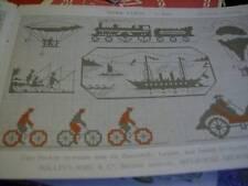 Bibliothek DMC Merk Stich 1te Serie-German Cross Stitch Booklet-ABC/Borders/Tran