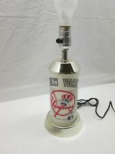 Vintage 1987 New York Yankees Desk Table Night Stand Lamp MLB Collectible