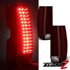 "2007-2013 Cadillac Escalade ""WINE RED"" LED Rear Brake Tail Light Lamp LEFT+RIGHT"