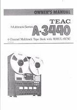 TEAC manual de instrucciones User Manual owners manual para a - 3440
