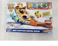 Disney TOY STORY 4 Movie Hot Wheels BUZZ LIGHTYEAR CARNIVAL RESCUE Bunny Ducky