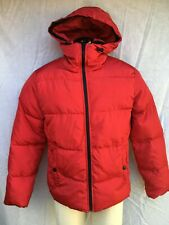 Express Heat Seal Puffer Coat Mens - Medium - Eastern Red Color - NWT $179