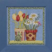 MILL HILL BLOOMS and BLOSSOMS Counted Cross Stitch Kit - TULIPS AND DAISIES