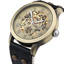 Luxus Herren Leder Selbst Winding Armbanduhren Automatic Mechanisch Wrist Watch