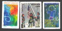 US. B1, B2 & B3. Semi Postal Stamp. Mint. NH. 1998 - 2003